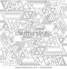 Geometric Mandala Coloring Adults Coloring Pages Stock Vector