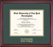diploma frames farmingdale state college suny bookstore framing success classic diploma frame in a burnished cherry finish