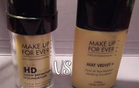 review fondotinta hd make up forever confronto mat velvet you