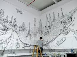 painting on the wallPaintings on the walls by Thomas Dartigues  Creative blog
