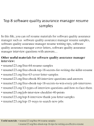 Quality Resume Samples top60softwarequalityassurancemanagerresumesamples60lva60app660960thumbnail60jpgcb=60603607660905 39