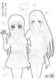 Free Printable Anime Coloring Pages Chibi Wonderful Manga Girl Co