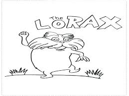 Lorax Coloring Page Coloring Sheet The Lorax Book Coloring Pages