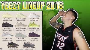 Yeezy Release Chart 2018 Every Adidas Yeezy Sneaker Releasing This Year 2018 Yeezy Releases