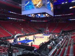 Detroit Pistons Seating Chart Little Caesars Arena Little Caesars Arena Section 126 Detroit Pistons