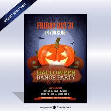 Halloween Dance Flyer Templates Download Vector Halloween Dance Party Poster Template