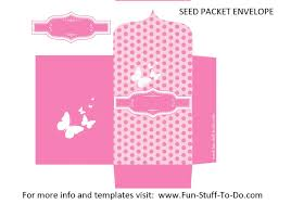 little envelope template seed packet envelope