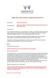 Template Participant Information Leaflet