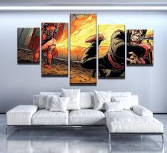 deadpool wall art 5 piece