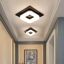 modern flush mount ceiling light hallway porch balcony lamp interior lighting surface mounted square led ceiling lights kitchen pendant lights outdoor