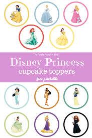 Disney Princess Cupcake Toppers 27100daysofdisney