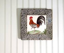 Rooster Wall Decor Kitchen Kitchen Astonishing Rooster Kitchen Decor Using Plates With White
