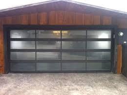 garage doors glass panel glass single garage door modern with black frame and semi translucent glass garage doors glass panel