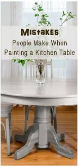 used chalk paint on a dining table