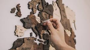 wooden world map wall decor top wood