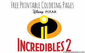 Printable coloring pages of mr. Disney Pixar Incredibles 2 Coloring Pages Free Printables