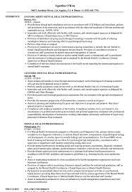 Mental Health Professional Resume Sample Mental Health Professional Resume Samples Velvet Jobs 9