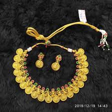 Gold Jadtar Set Design Buy Quality Necklace Set With Beautiful Coin Design In Ahmedabad
