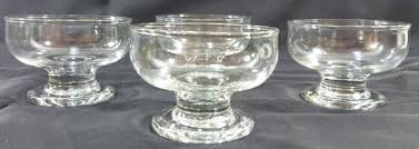 clear glass pedestal dessert bowls set of 4 dish cup oz tesco bobble clear dessert dish from glass