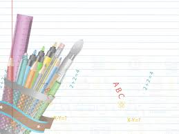 Education Background For Powerpoint Educational Supplies Powerpoint Templates Education Objects