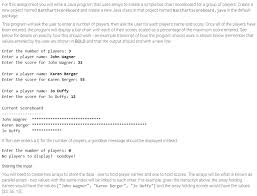 Solved For This Assignment You Will Write A Java Program