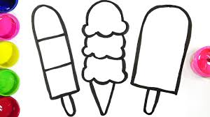 Drawing Pages Drawing Ice Creams Learn Colors Coloring Pages Youtube