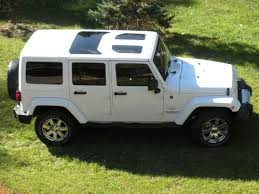 white jeep wrangler jk hard top gl inserts sunroofs want for mine