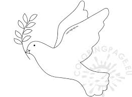 Branch Template Dove With Olive Branch Template Coloring Page