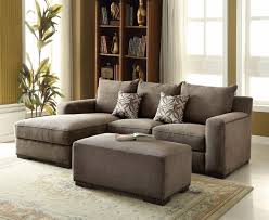 alano gray chenille sectional sofa with left chaise and nailhead trim