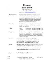 Cover Letter Host Resume Breakfast Host Resume Tv Host Resume
