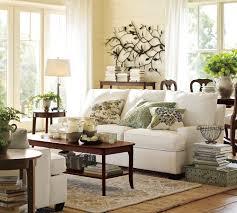 vintage living room with natural popcorn loop pottery barn rug