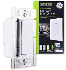 ge enbrighten z wave plus 1000w smart dimmer switch for incandescent halogen bulbs only no neutral required white lt almond zwave hub required