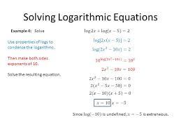 4 solving logarithmic