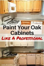 Diy Painting Old Kitchen Cabinets Oak Cabinet Makeover How To Paint