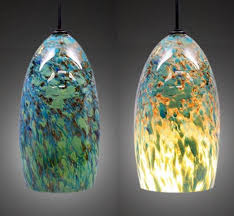 charming colored glass pendant lights blown for design 2