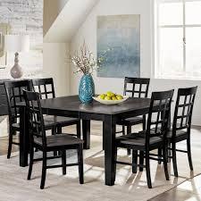 Progressive Furniture Salem 7 Piece Solid Wood Dining Table Set With