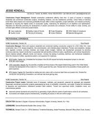 Sample Construction Resume Template Construction Resume Sample Resume Templates Construction Resume 1