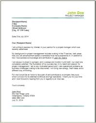 project management cover letter