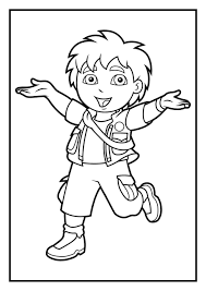 Small Picture Go Diego Go coloring7com