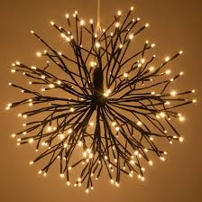 Brown Starburst Lighted Branches with Warm White LED Twinkle Lights, 1 pc