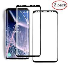 KOFOHO [2 Pack] Galaxy S8 Screen Protector Glass, <b>Full Cover</b> (<b>3D</b> ...
