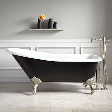66 goodwin cast iron clawfoot tub imperial feet black of painting the exterior of your