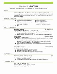 1 Page Resume Templates Inspirational Elegant 1 Page Resume Template