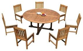 dining tables 72 round dining table 8 piece outdoor patio teak set 7 chairs transitional sets