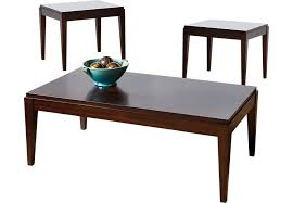table sets for living room pertaining to lansing cherry 3 pc set dark wood ideas 19