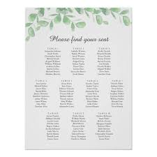 Wedding Seating Chart Poster Best Picture Of Chart