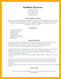 Daycare Resume Samples Classy Child Care Worker Resume Sample Daycare Ideas Collection Childcare