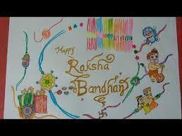 Chart On Raksha Bandhan Videos Matching Happy Raksha Bandhan How To Draw Rakhi For
