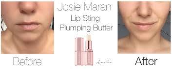 review josie maran lip sting plumping er