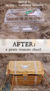 from strawberry container to pirate treasure chest a fun craft tutorial from theclassroomcreative com